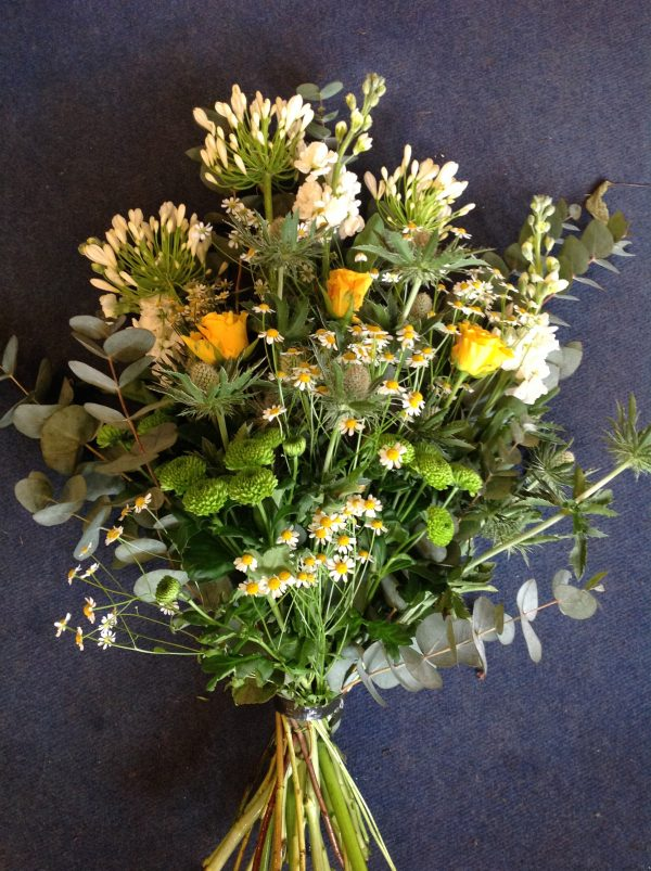 Lottys Flowers hand tied funeral sheaf